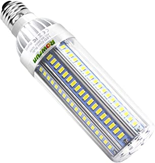 LED Corn Light Bulb 50W E26 with E39 Large Mogul Base Adapter Daylight White 6500K 5500LM AC85-265V Non Dimmable for Indoor Outdoor Home Garage Factory Office Warehouse Street Store Lamp by Rowrun