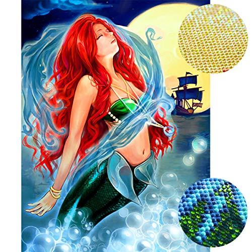 Staroar 5D Diamond Painting Kits for Adults for Adult Mixed Drill - Mermaid Art Craft Diamond Art