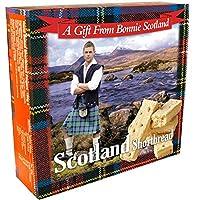 スコットランドの有名なスコットランドのショートブレッドの手作りギフトボックス入り