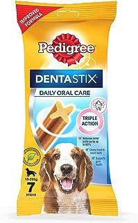 Pedigree Dentastix  Medium Breed (10-25 kg) Oral Care Dog Treat (Chew Sticks) (7 Sticks) 180g Weekly Pack
