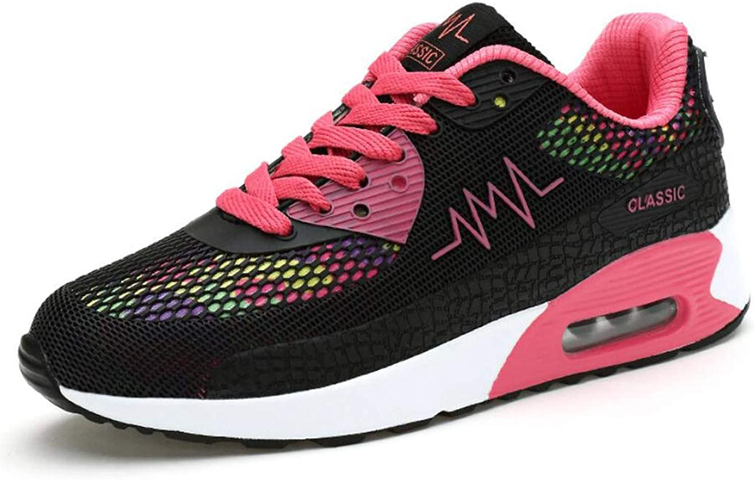 Zxcvb Women's Fitness Air Cushion Workout Trail Running shoes Fashion Sport Gym Jogging Walking Sneakers Black Yellow bluee