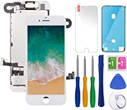 Screen Replacement Compatible with iPhone 7 4.7 inch White LCD Display Pre-Assembly Touch Digitizer A1660, A1778, A1779 with Front Camera, Proximity Sensor,Ear Speaker,Repair Tools