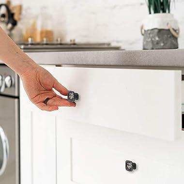 4pcs Knobs Black Drawer Knobs for Kitchen, Bathroom, Closet, Wardrobe Coffee Cup