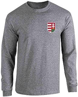 Hungary Soccer Retro National Team Costume Full Long Sleeve Tee T-Shirt