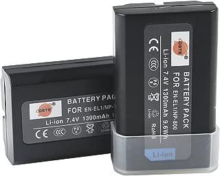 DSTE Replacement for 2X EN-EL1 Li-ion Battery Compatible Nikon Cooipix 4300 4500 4800 5400 5700 8700 880 885 99 E880 Konica Minolta DG-5W Dimage A200 Camera as NP-800