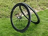 Full Carbon Ud mate bicicleta de carretera Tubular wheel rim 60mm. (25mm de ancho lateral freno de basalto Toray...
