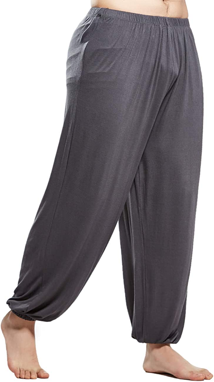 MIZOK Men's Ultra Soft Modal Pants Elastic Co Pilates Yoga 2021 spring and summer new Don't miss the campaign Waist