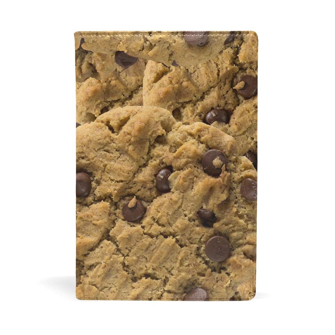 早めるローンセレナチョコのクッキー ブックカバー 文庫 a5 皮革 おしゃれ 文庫本カバー 資料 収納入れ オフィス用品 読書 雑貨 プレゼント耐久性に優れ