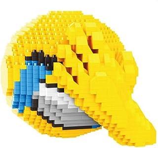 Figur att montera med mikrostora byggstenar. Uttryckssymbol med en hand i ansiktet.
