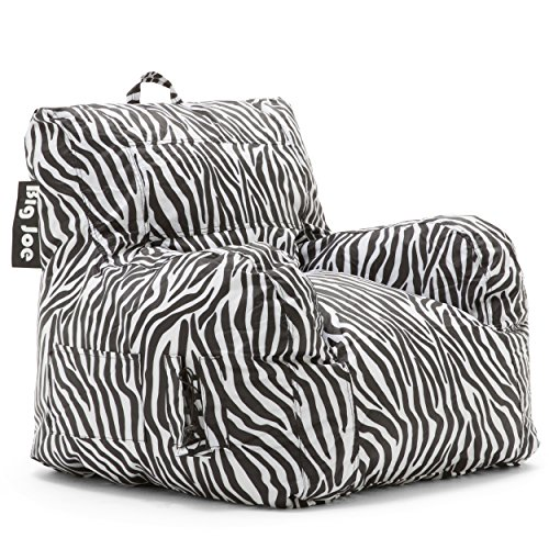 Big Joe 645182 Dorm Bean Bag Chair, Zebra