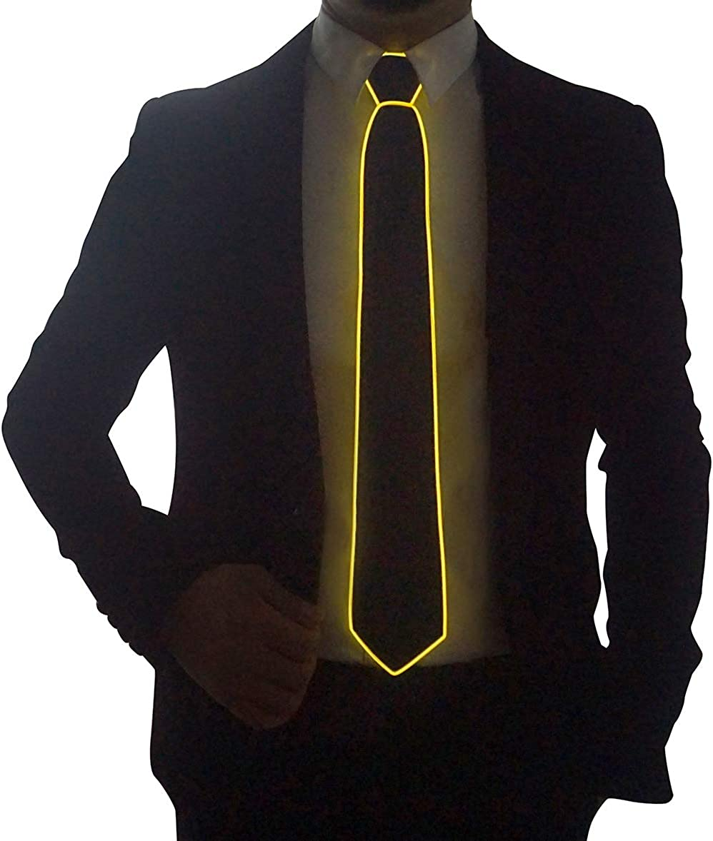 Sale price SATUMIKO Cheap super special price Burning Man Light Up Fanny Ties For Novelty Men Necktie