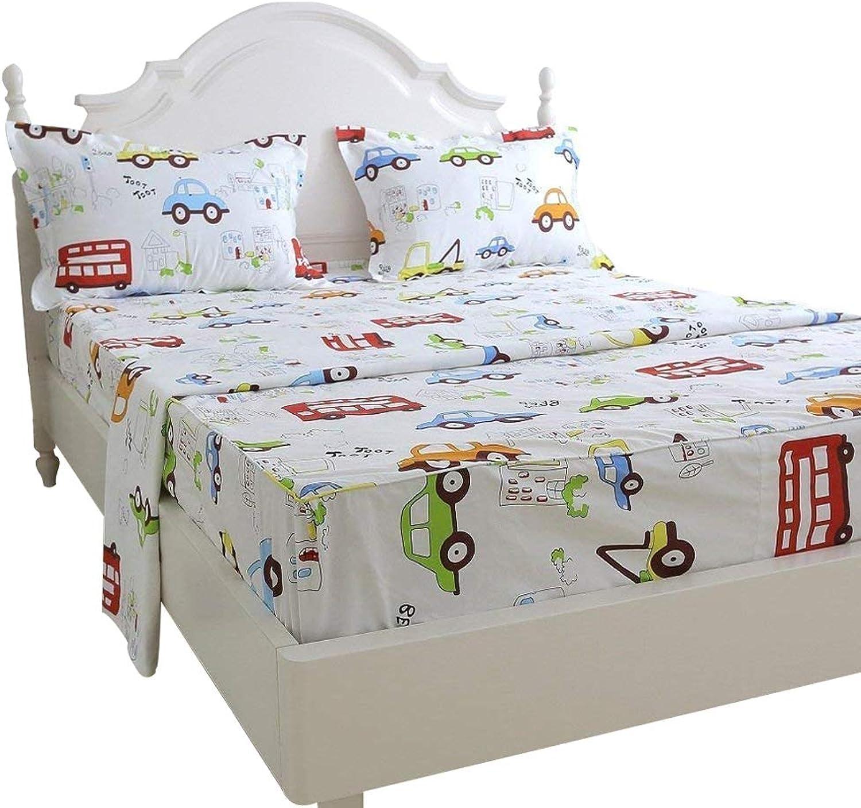 Brandream Kids Boys Bedding Set King Size Sheets Set for Kids Bed Sheet Set 100% Cotton