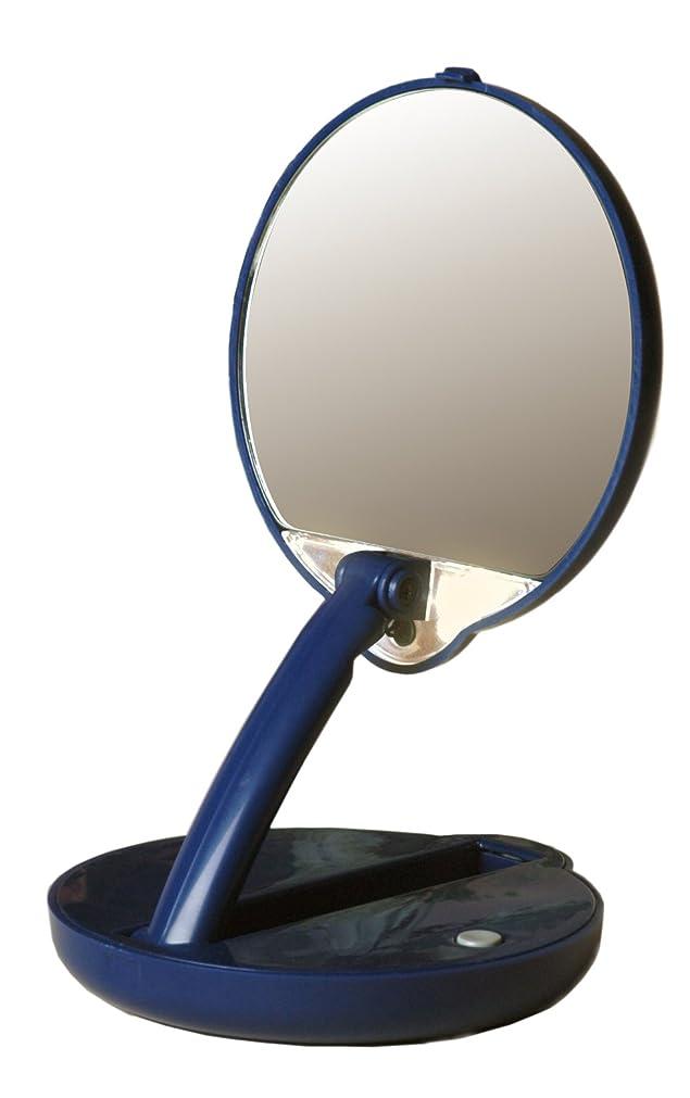無能褐色教育学アメリカ発 Floxite 15倍ミラー 拡大鏡 メイクアップミラー ライト付き