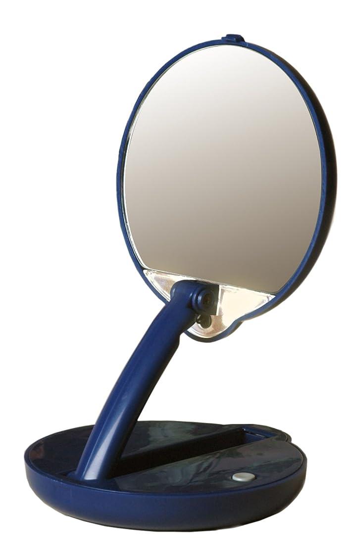 煙予約待ってアメリカ発 Floxite 15倍ミラー 拡大鏡 メイクアップミラー ライト付き