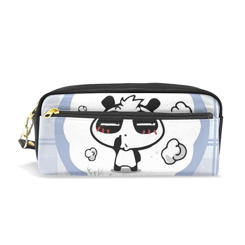 AOMOKI ペンケース ペンポーチ かわいい おしゃれ 化粧ポーチ 小物入り 多機能バッグ 男女兼用 プレゼント ギフト パンダ Panda