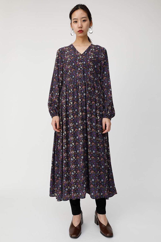 (マウジー) moussy FLORAL FLARE DRESS 010CSS30-1430
