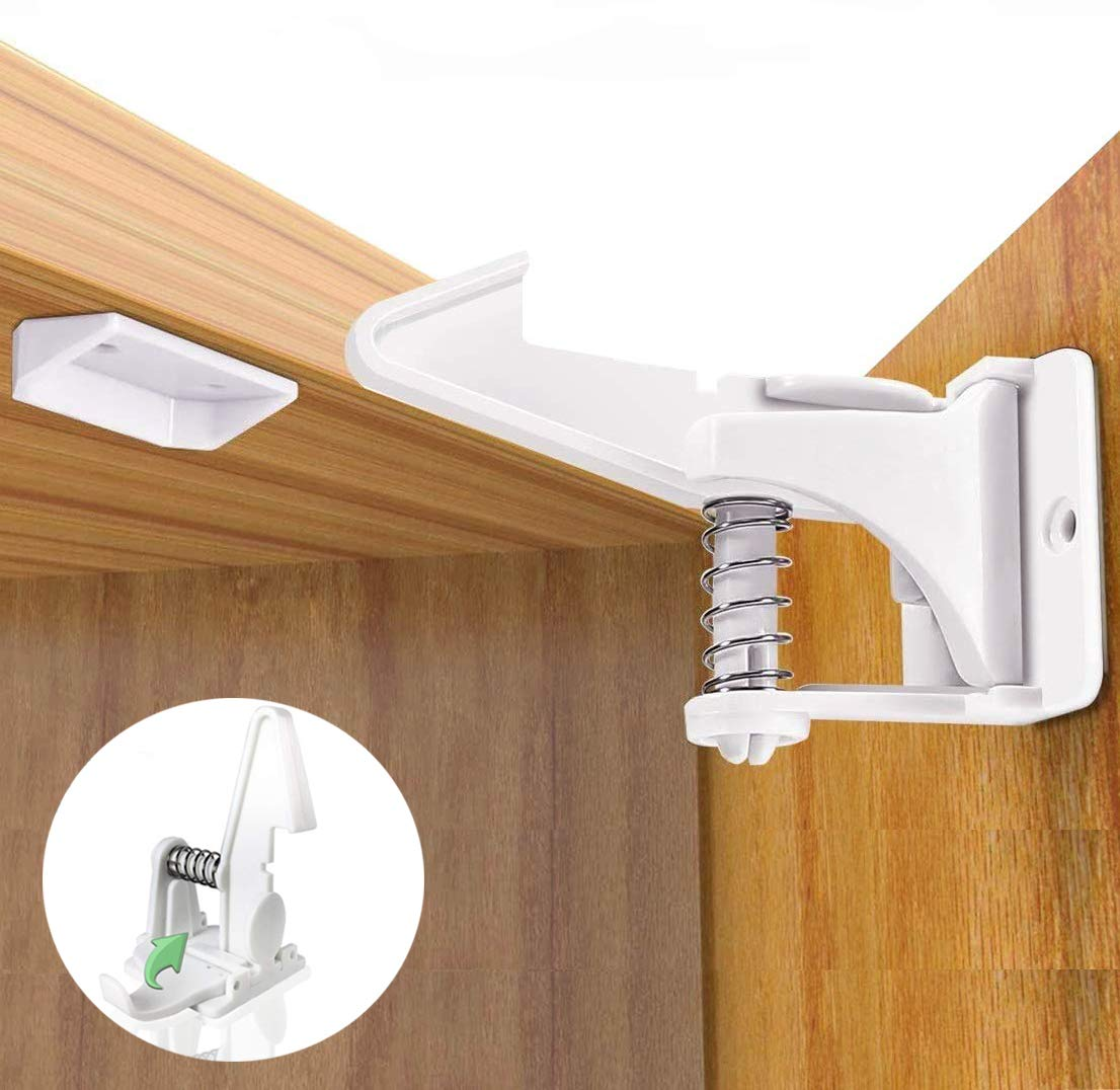 Lnvisible Cabinet Locks Popular products Child Safety Latches Proo - Baby Pack Sale price 12
