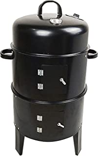 BBQ Charcoal Grill Barbecue Smoker Smoking Barrel Smoking Grill with Thermometer