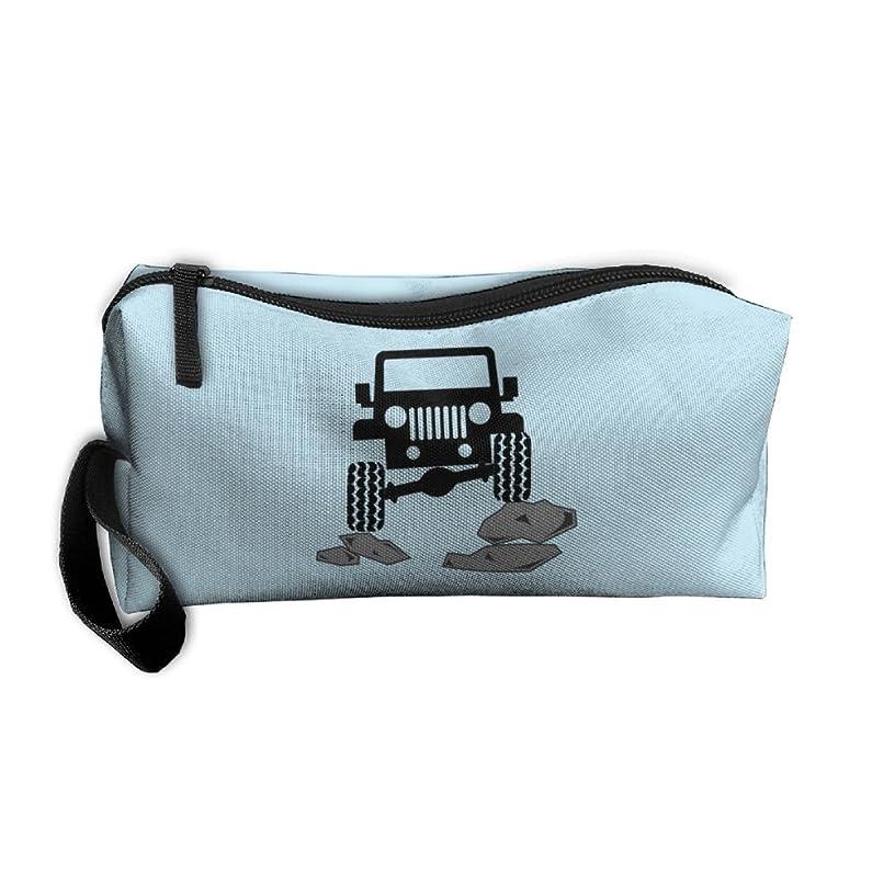 Clutch Handbag Women Cosmetics Case With Zipper Jeep Offroad Travel