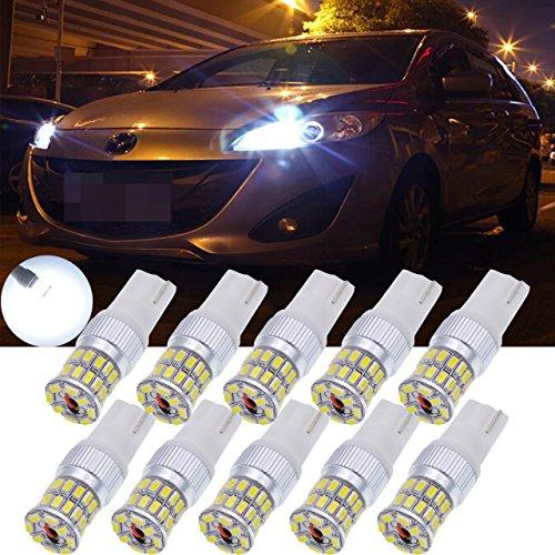 TUINCYN Bombillas LED blancas para coche de 450 lúmenes 36SMD para intermitentes, luces de marcha atrás y luces de estacionamiento 12 V ~ 24 V CC (2 unidades)