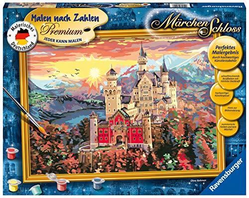 Ravensburger Malen nach Zahlen 28902 - Märchenschloss - Perfektes Malergebnis durch hochwertiges Künstlerzubehör, ohne Rahmen