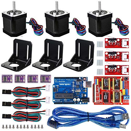 Glossia 3D Printer CNC Controller Kit with for IDE GRBL CNC Board RAMPS 1.4 Mechanical Switch Endstop DRV8825 A4988 Stepper Motor Driver Nema 17 Stepper Motor