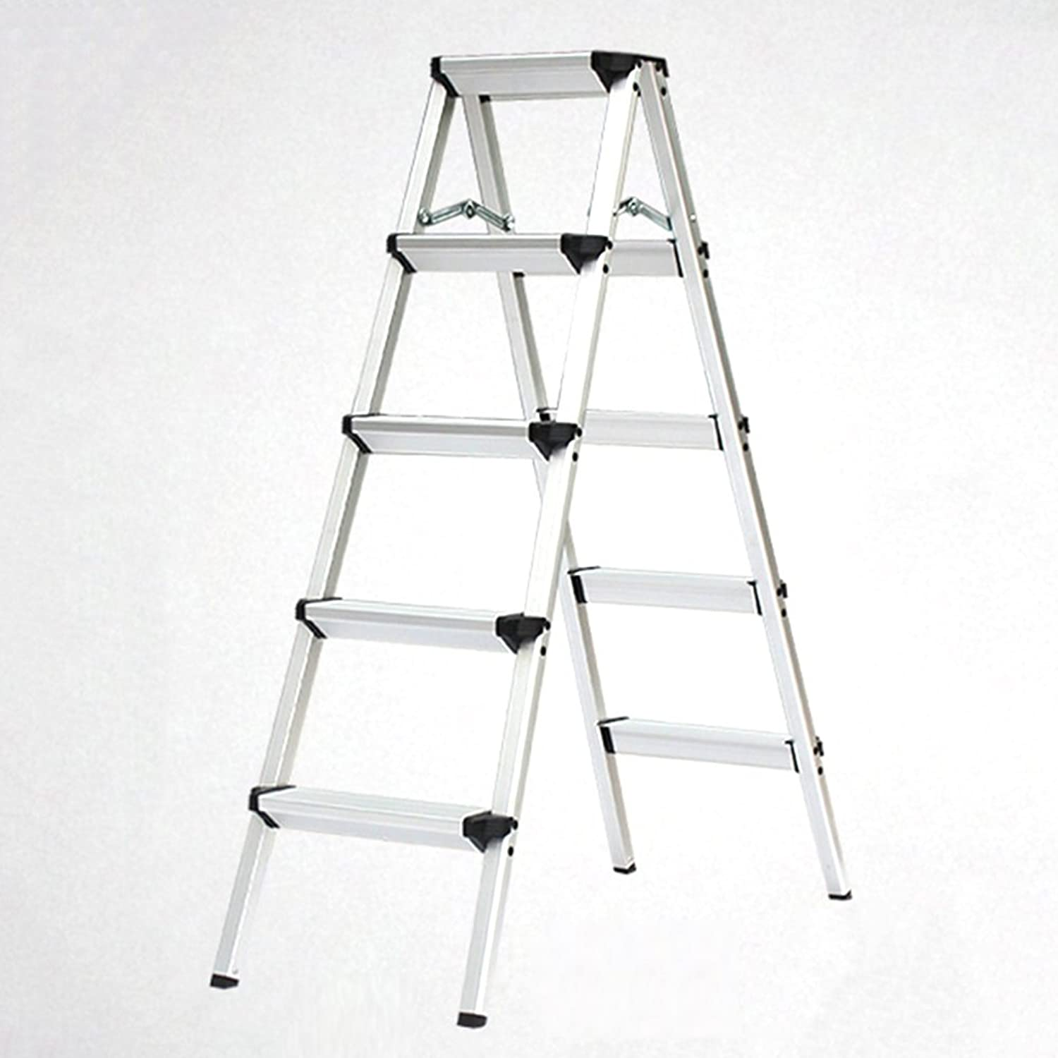 Staircase Stool TH Ladder Stools Heavy Duty Steel Folding Portable Wide Step Ladder Stool AntiSlip Household Step Stools Load 150kg (Size   5 step)
