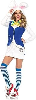 Leg Avenue Women's Cozy White Rabbit Wonderland Halloween Costume