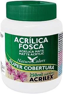 Tinta Acrílica Fosca - Nature Colors Acrilex 250 ml Branco - 519