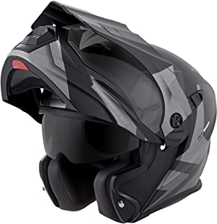 ScorpionEXO Unisex-Adult Modular/Flip Up Adventure Touring Motorcycle Helmet (Silver, Large) (EXO-AT950 Neocon)