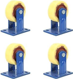 4pcs Furniture Casters Swivel Castor Wheels Heavy Duty Nylon Casters with 360 Degree, Loading Capacity 800Kg Per Wheel for...