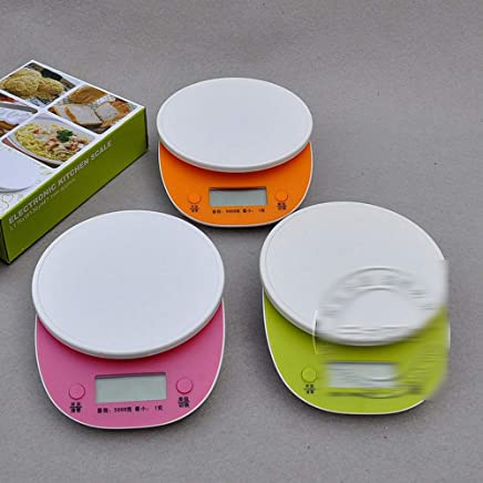 Digital Kitchen Scales, high Quality and Delicate Edges, Smooth and Unfinished, Home Electronic Kitchen Scale,Pink