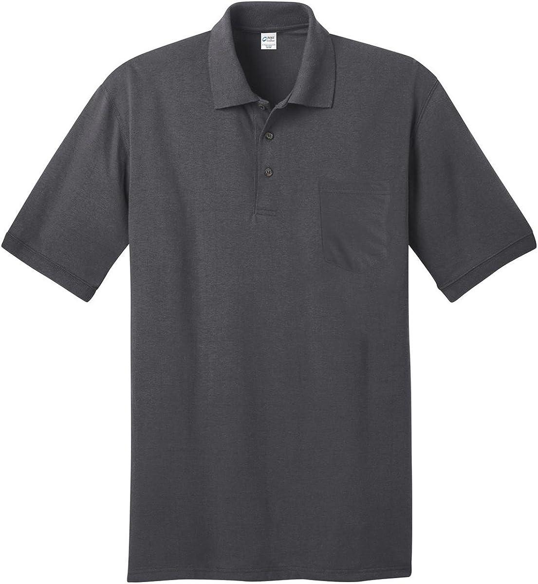 Port & Company 5.5-Ounce Jersey Knit Pocket Polo Shirt