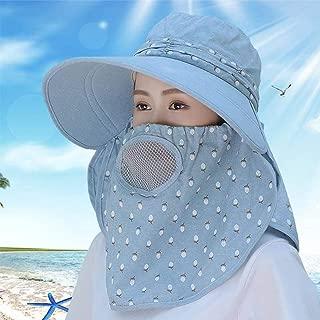 Ronshin Fashion Women Summer Large Brim Sun Hat UV Protection Folding Mask Breathable Hat