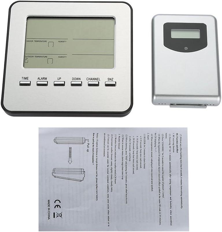 Over item handling BWLZSP Digital Wireless Weather Popular Thermometer Clock Station Alarm