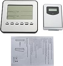 Alinory Termómetro Digital, estación meteorológica inalámbrica Digital Reloj Despertador Termómetro Higrómetro Temperatura Interior Exterior