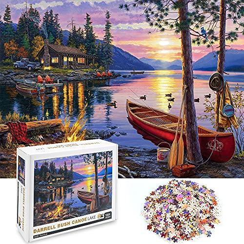 Puzzel 10000 Teile Erwachsene Sunset Lake, specool Puzzel Für Kinder Jugendliche DIY Spielzeug,Family Fun Jigsaws Puzzles Geschenke Home Decoration (27.6