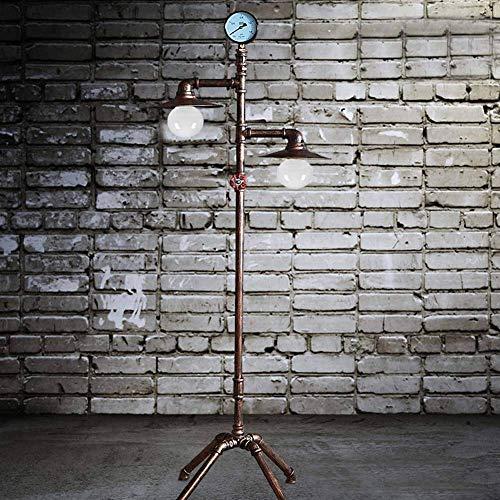 N/Z Equipo para el hogar Lámpara de pie Vintage Creativo Hierro Tubería de Agua Lámpara de pie Loft Lámpara de pie Industrial Hotel Dormitorio Estudio Sala de Estar Luz E27