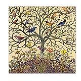 Zhaoyangeng Lienzo De Pájaros Tropicales   Cartel Vintage, Pájaros Exóticos Antiguos, Arte De Pared Natural, Lienzo, Lienzo Impreso, 50X50 Cm Sin Marco