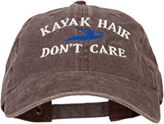 Kayak Hair Don't Care Embroidered Washed Cotton Twill Cap