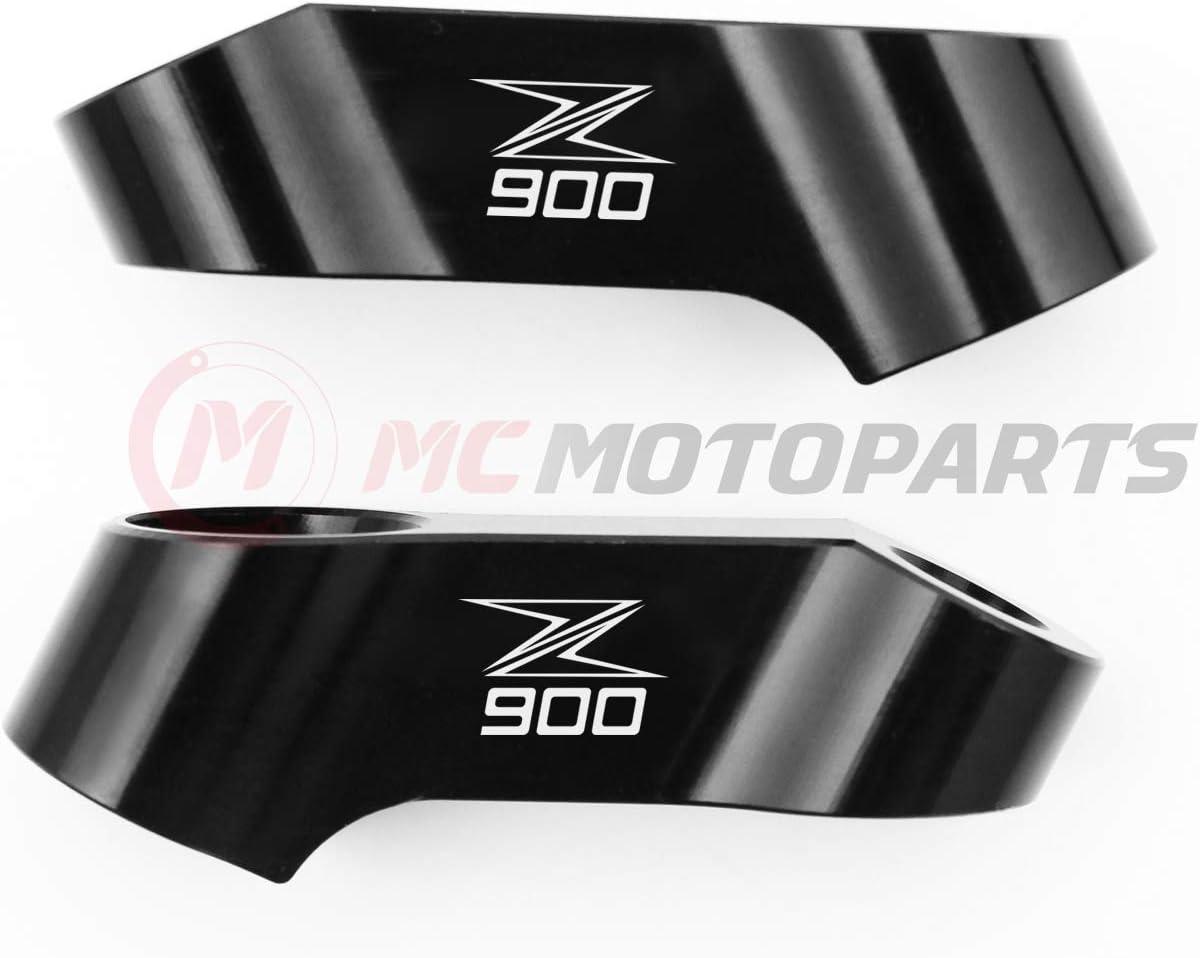 MC MOTOPARTS Z125 Logo 10mm CNC Mirror Risers Mirror Extenders For Kawasaki Z125 PRO 2016-2019 16 17 18 19