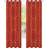 Cortinas opacas para ventana, diseño tribal festivo, detalles árabes, símbolo...