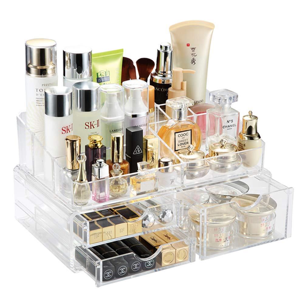 WiYi Cosmético Organizador Maquillaje Almacenamiento Acrílico Sala Baño Transparente Tipo De Cajon Clasificar Estuche Cosmético: Amazon.es: Hogar