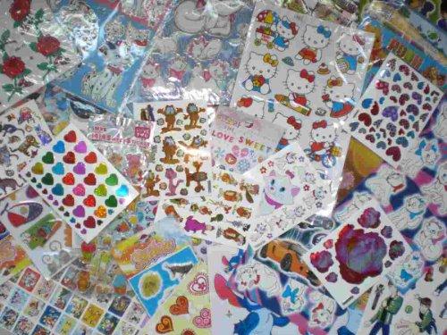 by soljo Artisanat Enfants Autocollants Collecte de Paquet Plus de 200 pièces au Moins 20 Feuilles par Set