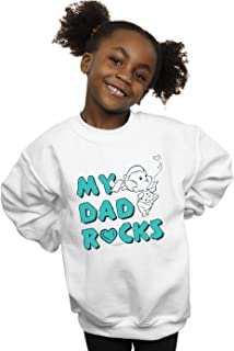 The Flintstones Girls Pebbles My Dad Rocks Sweatshirt