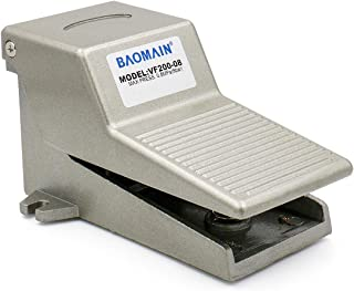 """Baomain Pt 1/4"""" Nonslip Momentary Pneumatic Foot Pedal Valve Air Switch"""