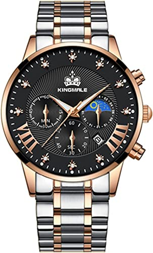 wholesale KINGMALE Mens Watches Stainless Steel Waterproof Chronograph Calendar Date Watches Business wholesale Dress Analog Quartz Wrist Watch sale for Male online sale