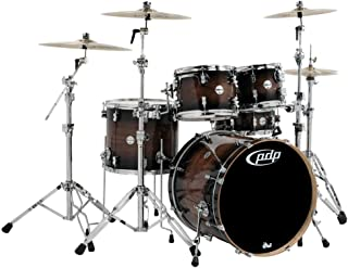 Pacific by DW 5-Piece Concept Maple Exotic Shell Pack (Charcoal Burst over Walnut)