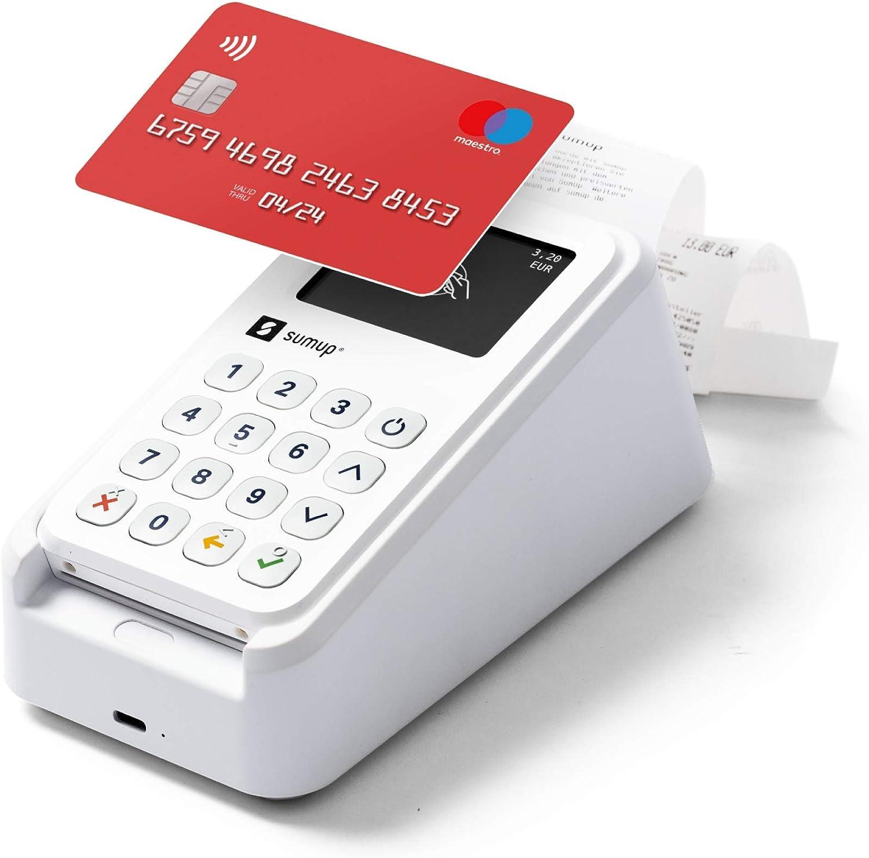 Kit de Pago móvil SumUp 3G - Lector de tarjetas SumUp 3G con Wi-Fi e Impresora de Recibos incluida Base de Carga
