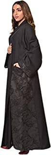 Casual wide style black Abaya For Women size 54